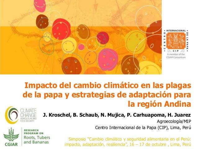 Impacto del cambio climático en las plagas  de la papa y estrategias de adaptación para  la región Andina  J. Kroschel, B....