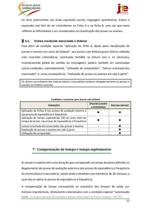 GUIAC–GuiaparaAplicaçãodeCondiçõesEspeciaisnaRealizaçãodeProvaseExames–JNE2017 21  Os itens preench...