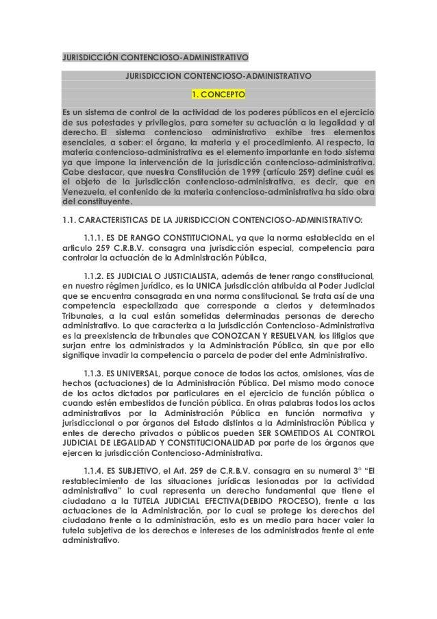 JURISDICCIÓN CONTENCIOSO-ADMINISTRATIVOJURISDICCION CONTENCIOSO-ADMINISTRATIVO1. CONCEPTOEs un sistema de control de la ac...