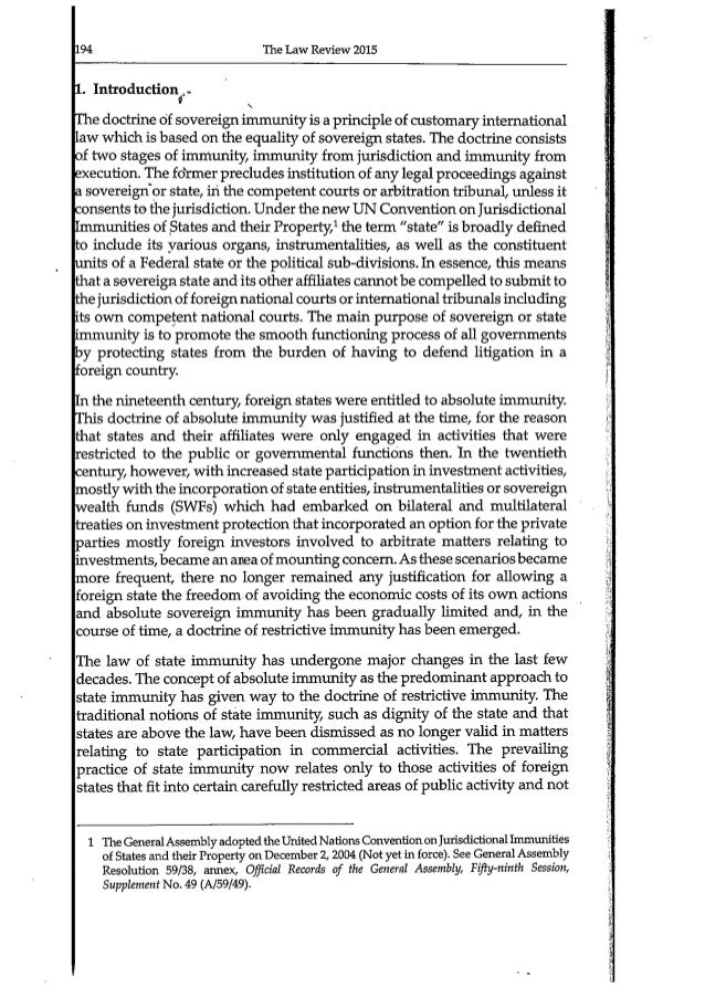 sovereign immunity essay - updated 20 oct 2009: an essay and argument against the sovereign immunity claim of the us congress the essay explains that we the people are the true sovereigns in the usa per the declaration of independence and per the preamble to our federal constitution.