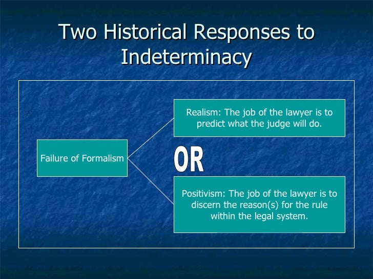 formalism and realism Legal formalism, above all, seeks to enforce what the law actually says, rather than what it could or should say it is a theory that the law is a set of rules and principles independent of.