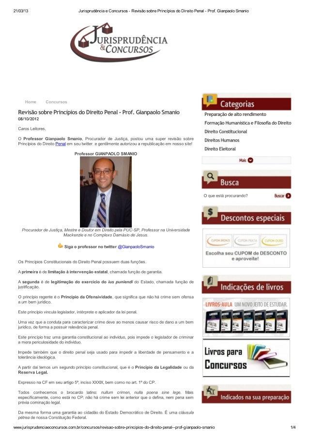 Jurisprudência e concurs... prof. gianpaolo smanio