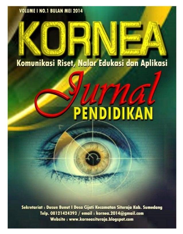Jurnal Pendidikan Kornea Volume 1 No.1 Bulan Mei 2014 i