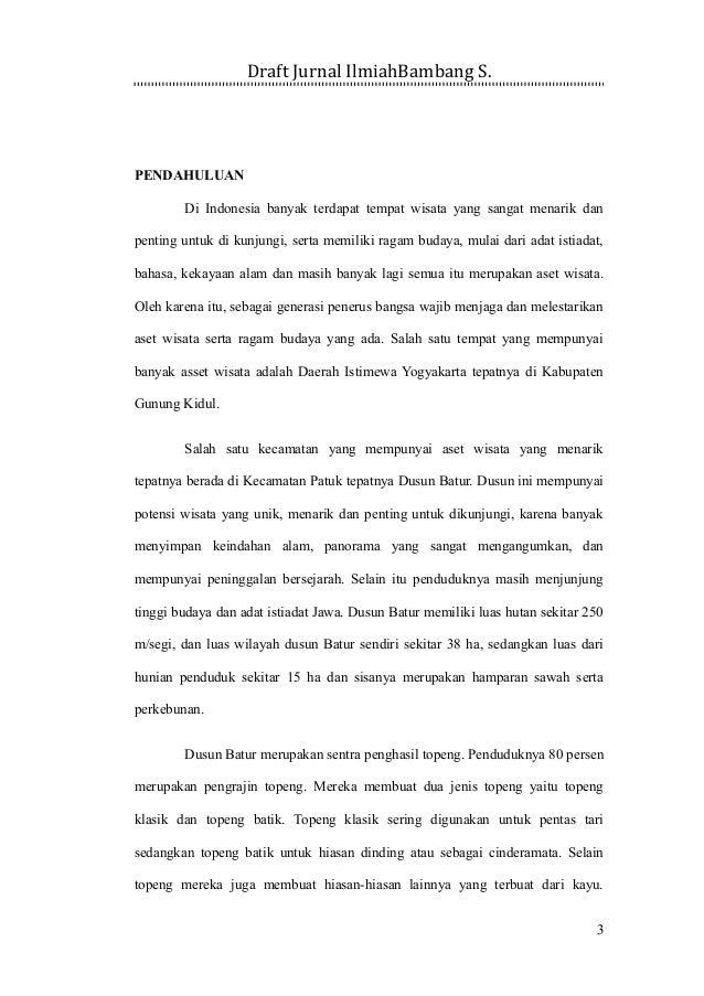 Contoh Jurnal Karya Ilmiah Bahasa Indonesia Ilmusosial Id