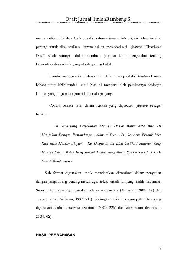 Penulisan Karya Ilmiah Contoh Jurnal Bambang 2016