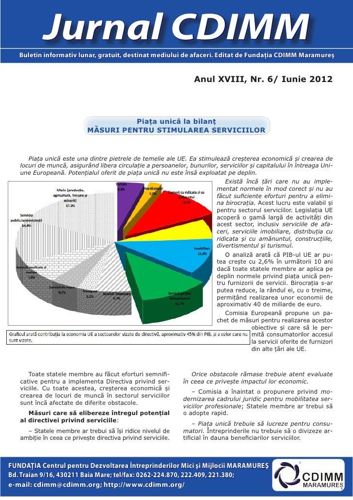Jurnal CDIMM   Buletin informativ lunar, gratuit, destinat mediului de afaceri. Editat de Fundaţia CDIMM Maramureş        ...