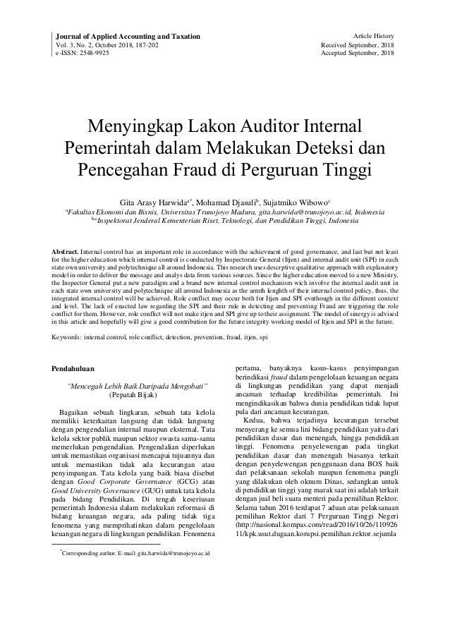 Peran Auditor Internal Pemerintah