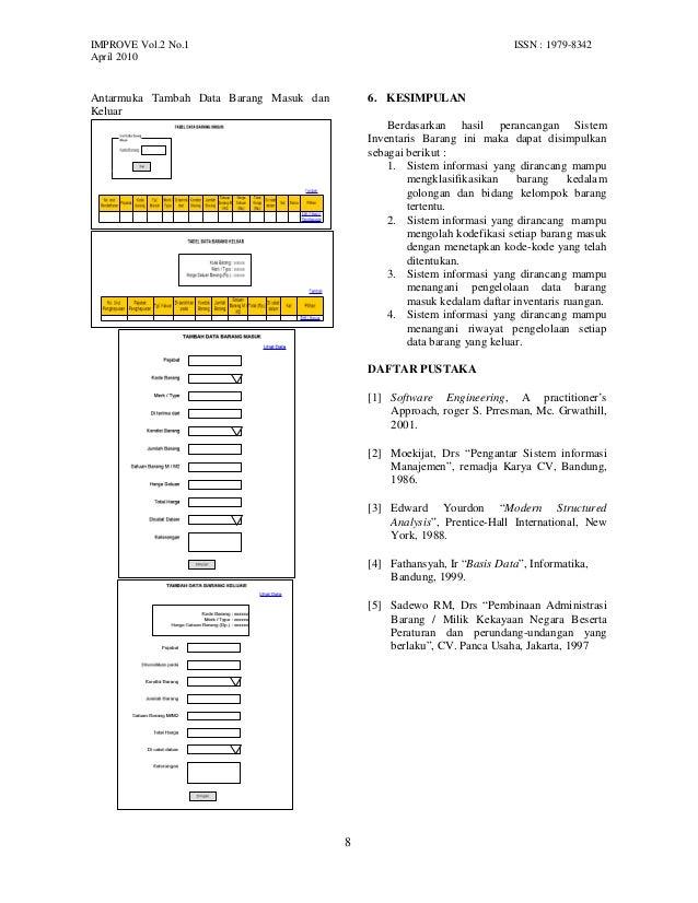 Perancangan sistem informasi inventaris barang studi kasus direktora perancangan antarmuka antarmuka tambah data kode barang 8 ccuart Image collections