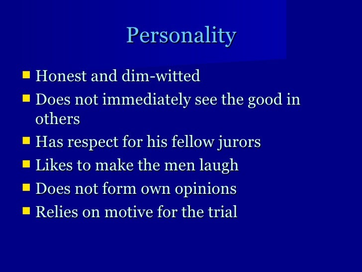 12 angry men and big five personality model
