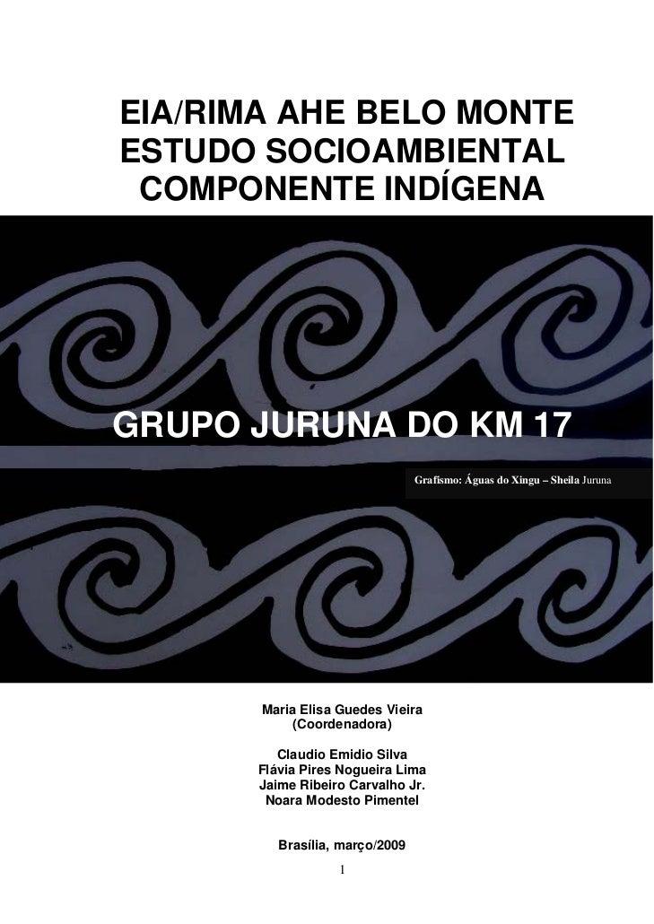 EIA/RIMA AHE BELO MONTEESTUDO SOCIOAMBIENTAL COMPONENTE INDÍGENAGRUPO JURUNA DO KM 17                                 Graf...