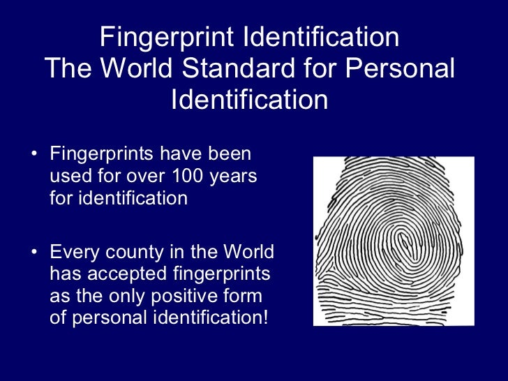 Scientific Foundation of Fingerprint Identification