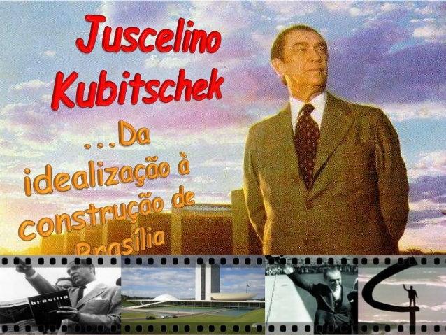 """No começo de seu governo, JK apresentou ao povo brasileiro o seu Plano de Metas, cujo lema era """"cinquenta anos em cinco"""". ..."""