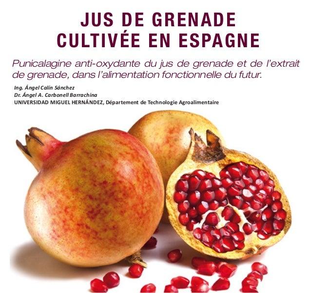 JUS DE GRENADE CULTIVÉE EN ESPAGNE Punicalagine anti-oxydante du jus de grenade et de l'extrait de grenade, dans l'aliment...