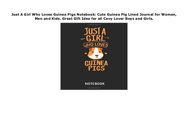 Great Gift Idea for all Cavy Lover. Cute Guinea Pig Lined Journal for Women Guinea Pig Notebook Men and Kids
