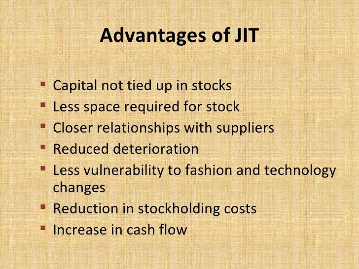 drawbacks of jit