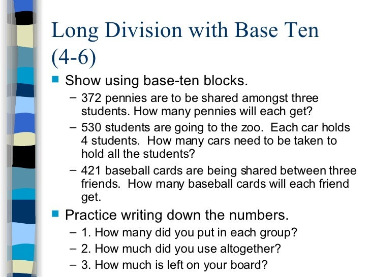 math worksheet : just say  o to worksheets : Division With Base Ten Blocks Worksheets