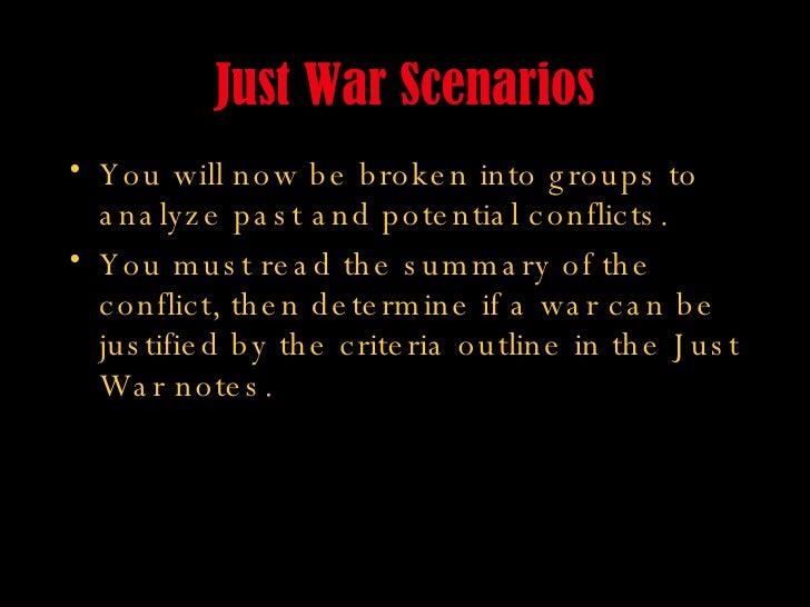 Just War - introduction