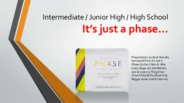 Intermediate / Junior High / High School It's just a phase… Presentation content liberally borrowed from It's Just a Phase...