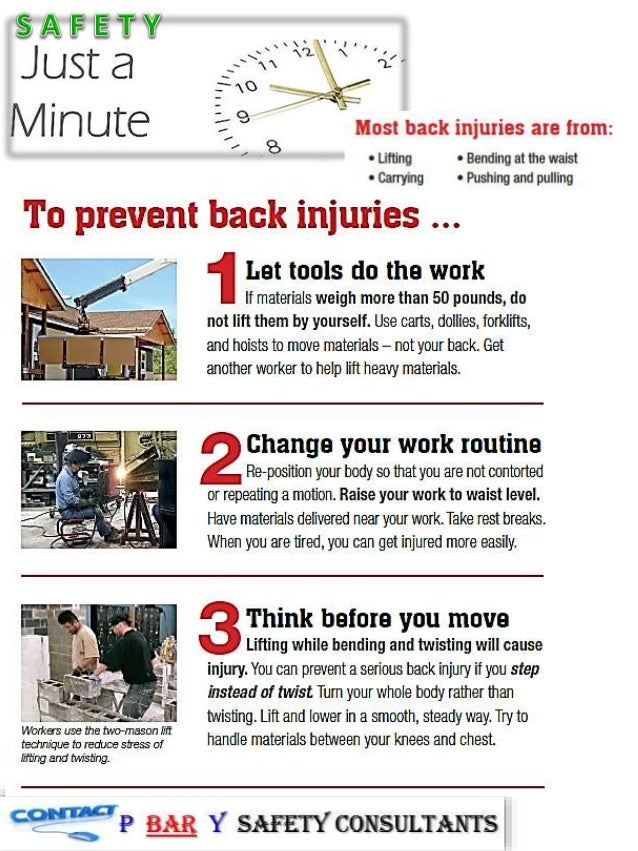 just a safety minute back injuries