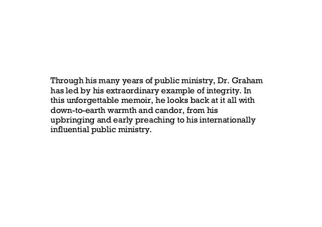 just as i am the autobiography of billy graham