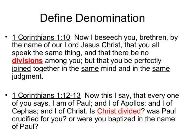 Define Denomination ...