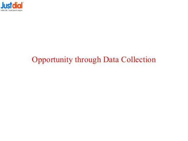 Opportunity through Data Collection
