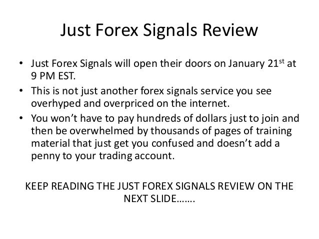 First forex signals review