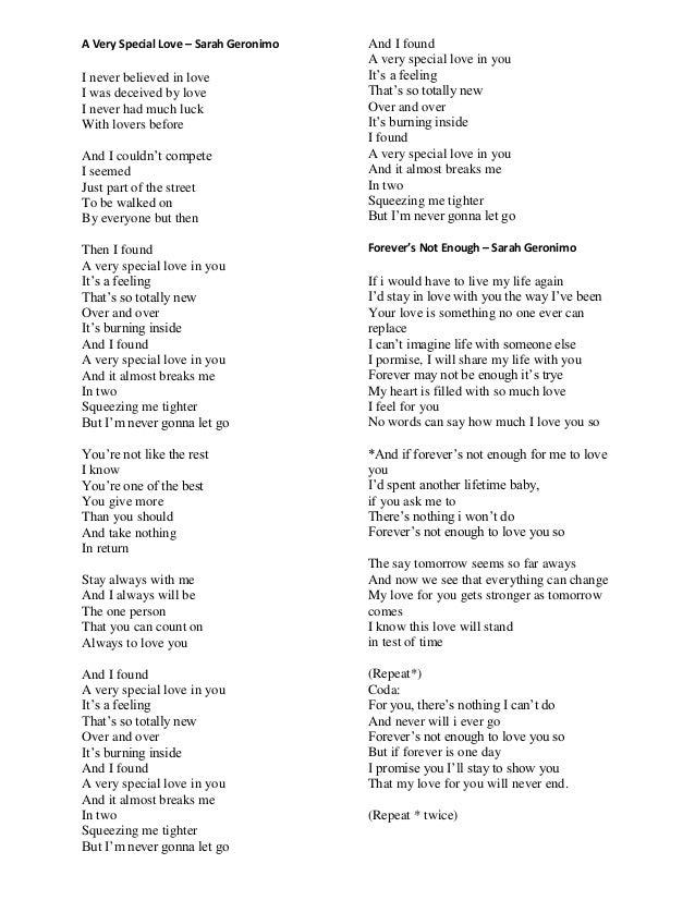 How Could You Say You Love Me Lyrics By Sarah Geronimo Braderva