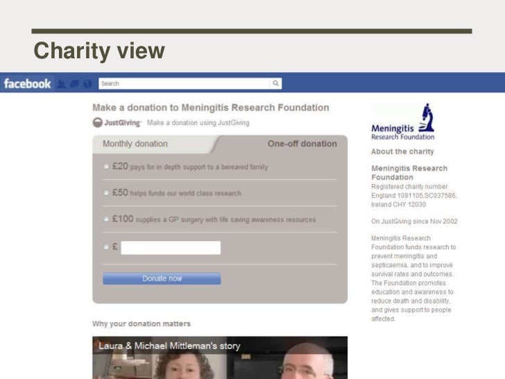 JustGiving Facebook app webinar