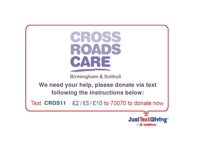 We need your help, please donate via text    following the instructions below: CROS11