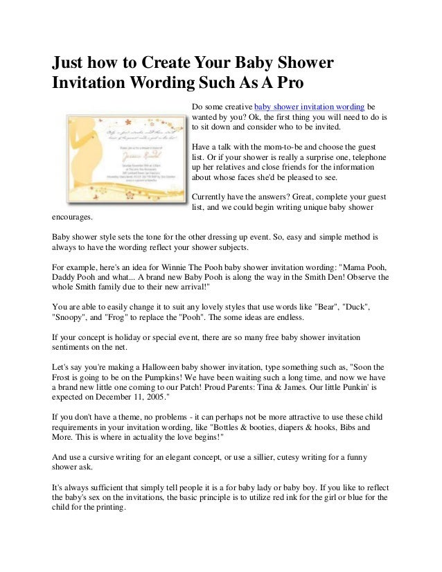 Just how to create your baby shower invitation wording such as a pro just how to create your baby showerinvitation wording such as a prodo some creative baby shower filmwisefo