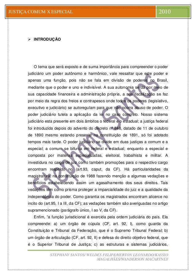 Jus STEPHANY SANTOS/ WELDES FELIPE/HERTON LEONARDO/KASSIO MAGALHÃES/WANDERSON MACARTNEY JUSTIÇA COMUM X ESPECIAL 2010  IN...