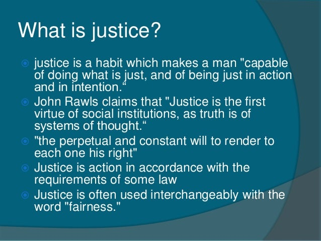 is justice the first virtue of the criminal justice system These studies suggest that injustice still exists in the criminal justice system in the united states yet a third important kind of justice is compensatory justice compensatory justice refers to the extent to which people are fairly compensated for their injuries by those who have injured them just compensation is proportional to the loss .