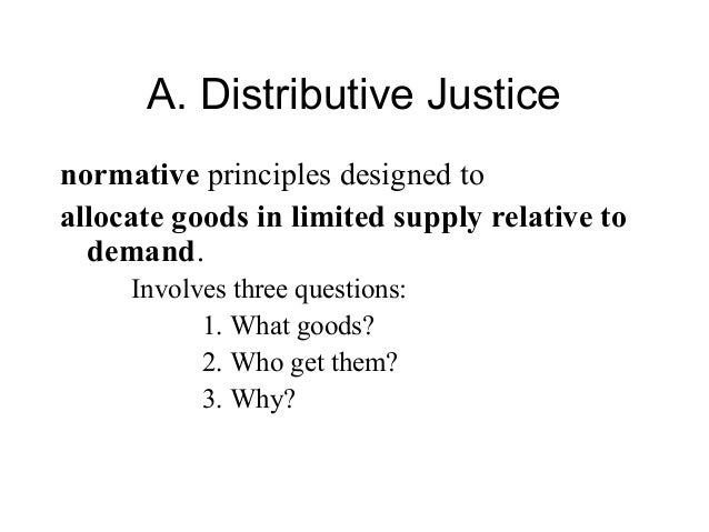 what is distributive justice Conflicts are a normal occurrence in any organization, and can be productive and beneficial when managed effectively in this last module we talk about conflicts styles, and focus on distributive and procedural justice concerns across a variety of cultural settings.