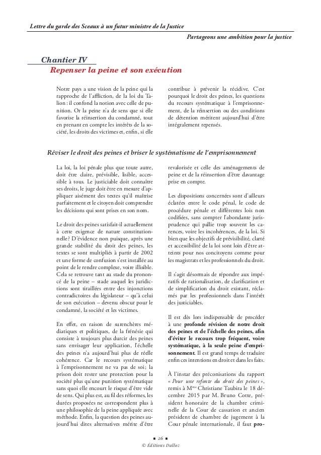 Lettre Du Garde Des Sceaux A Un Futur Ministre De La Justice