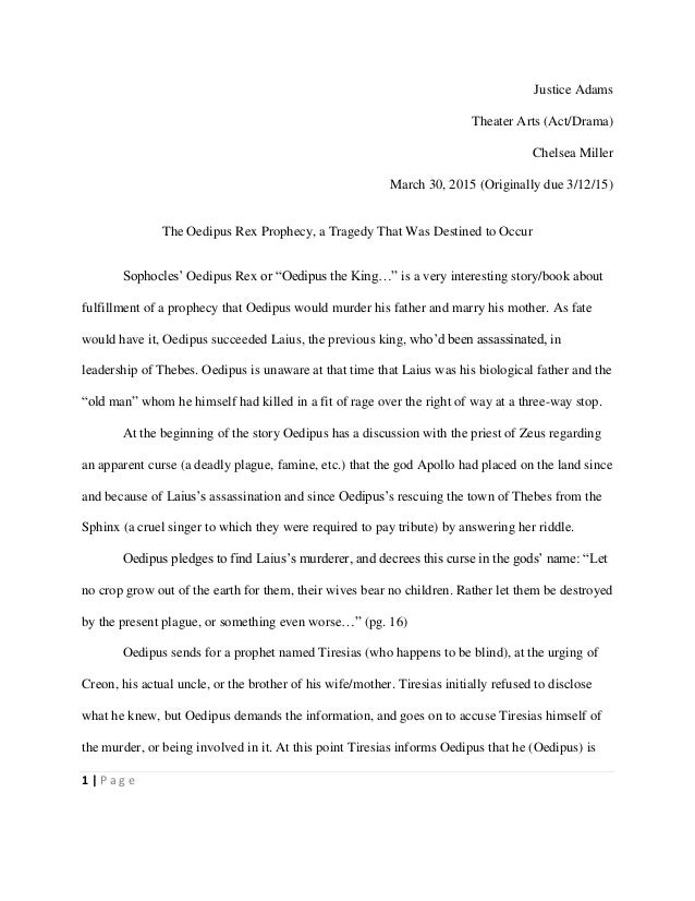 Oedipus the king thesis