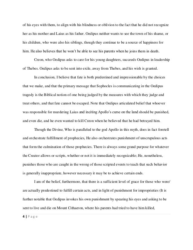 Essay On Oedipus The King