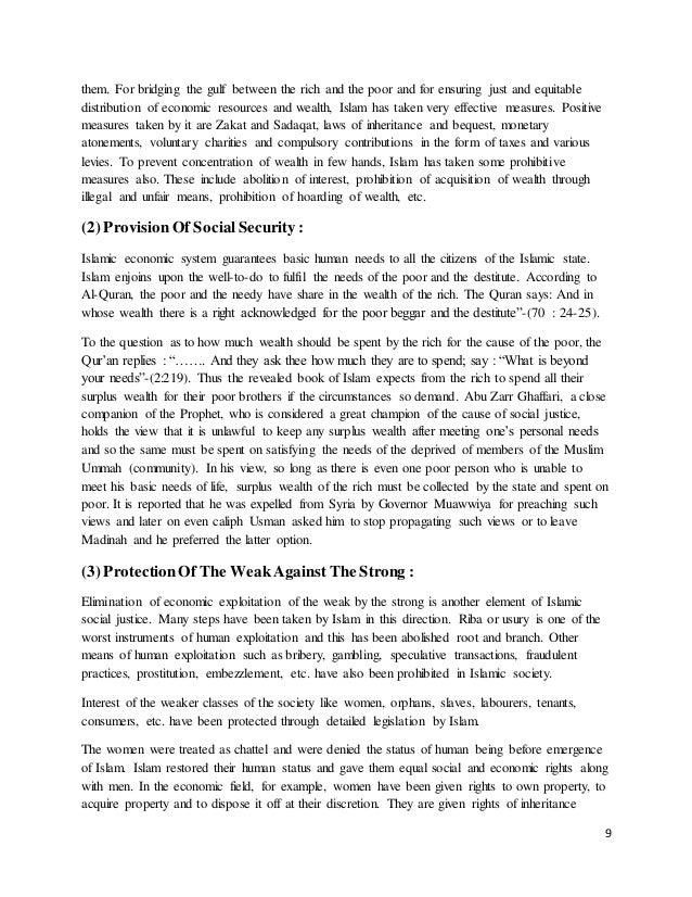 importance of islamic economics