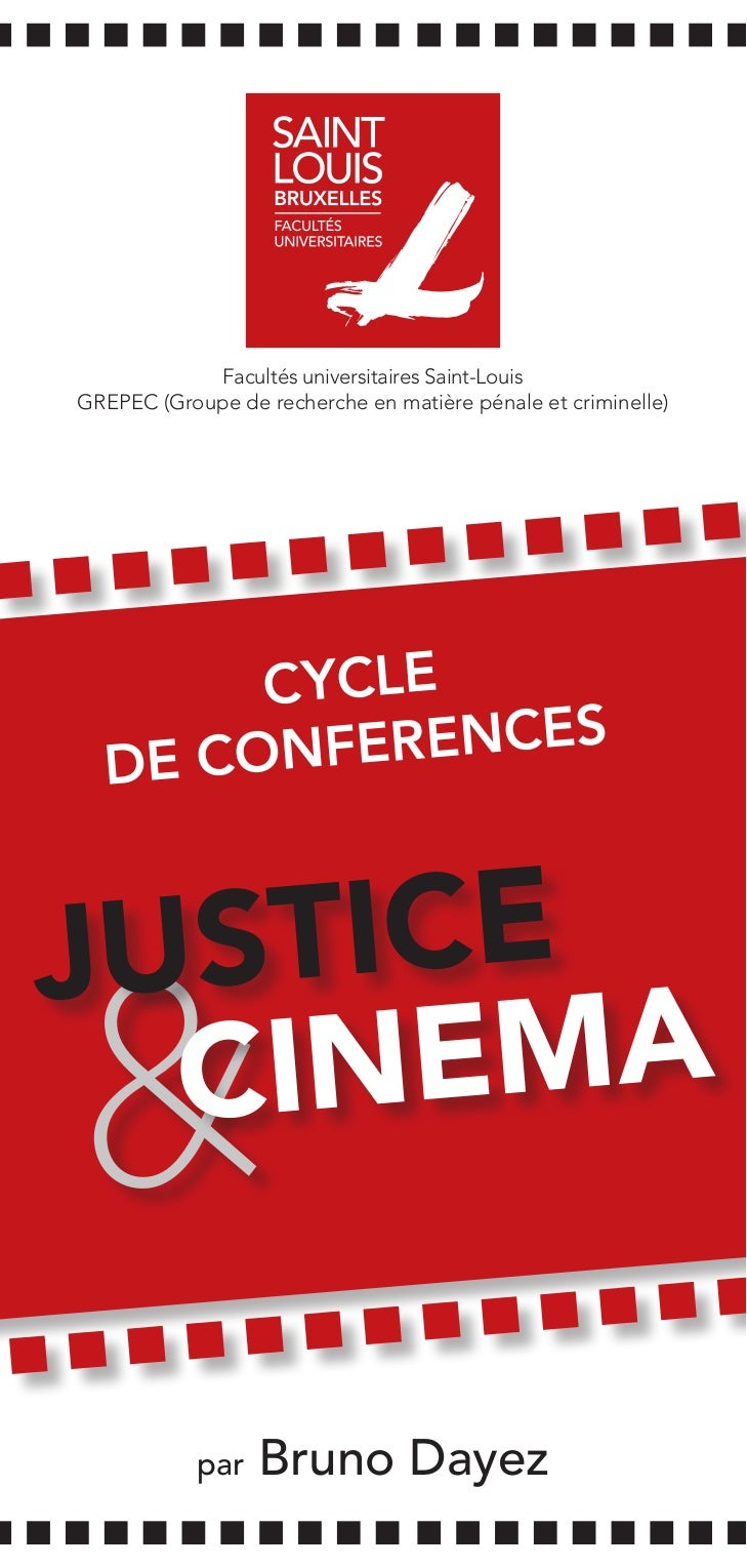 Facultés universitaires Saint-LouisGREPEC (Groupe de recherche en matière pénale et criminelle)       CYCLE               ...