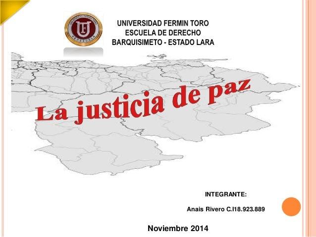INTEGRANTE:  Anais Rivero C.I18.923.889  Noviembre 2014