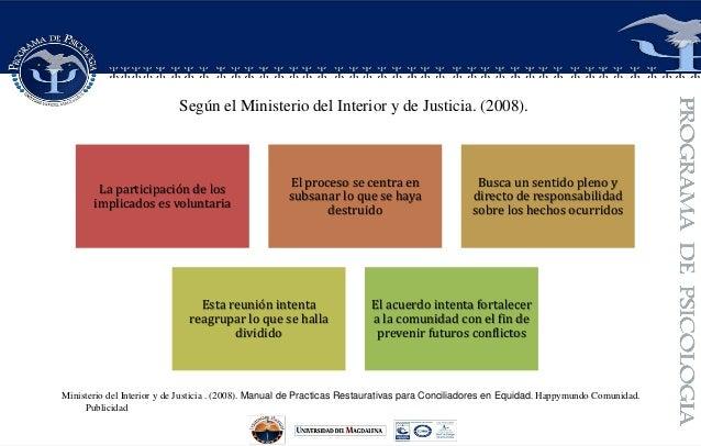 Justicia restaurativa - Ministerio del interior y justicia ...