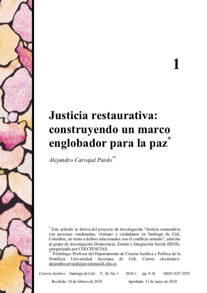 Justicia restaurativa: construyendo un marco…                                                                             ...