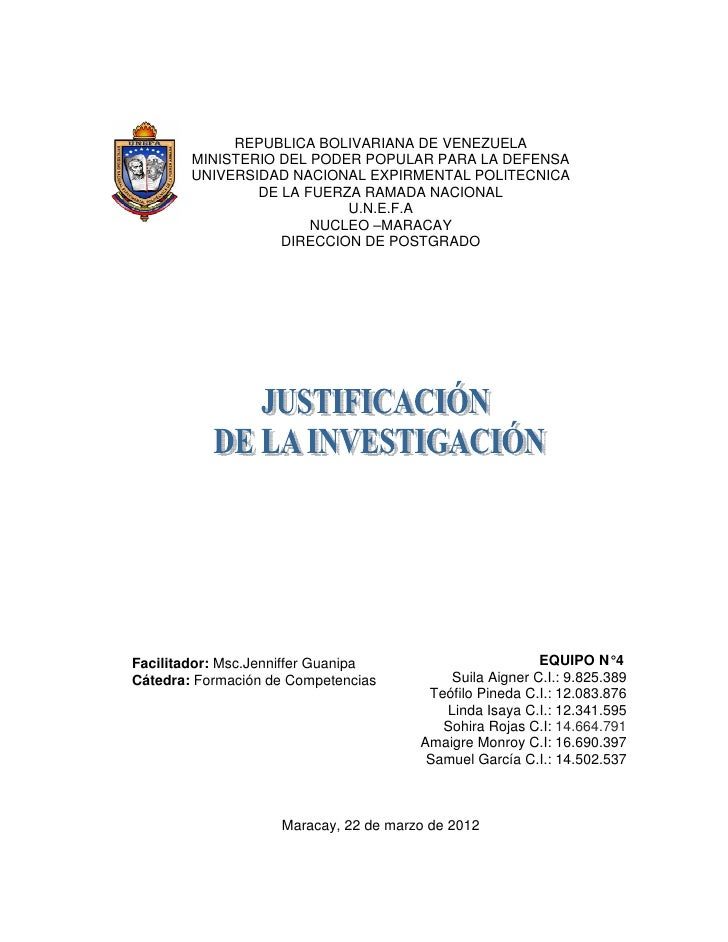 REPUBLICA BOLIVARIANA DE VENEZUELA        MINISTERIO DEL PODER POPULAR PARA LA DEFENSA        UNIVERSIDAD NACIONAL EXPIRME...