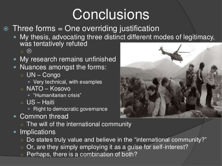 Justifications For Humanitarian Intervention