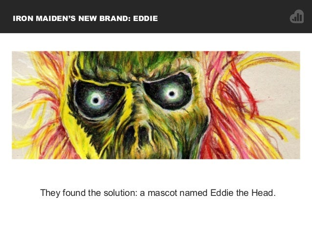 IRON MAIDEN'S NEW BRAND: EDDIE They found the solution: a mascot named Eddie the Head.