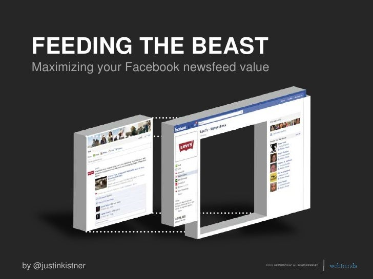 FEEDING THE BEAST<br />Maximizing your Facebook newsfeed value<br />