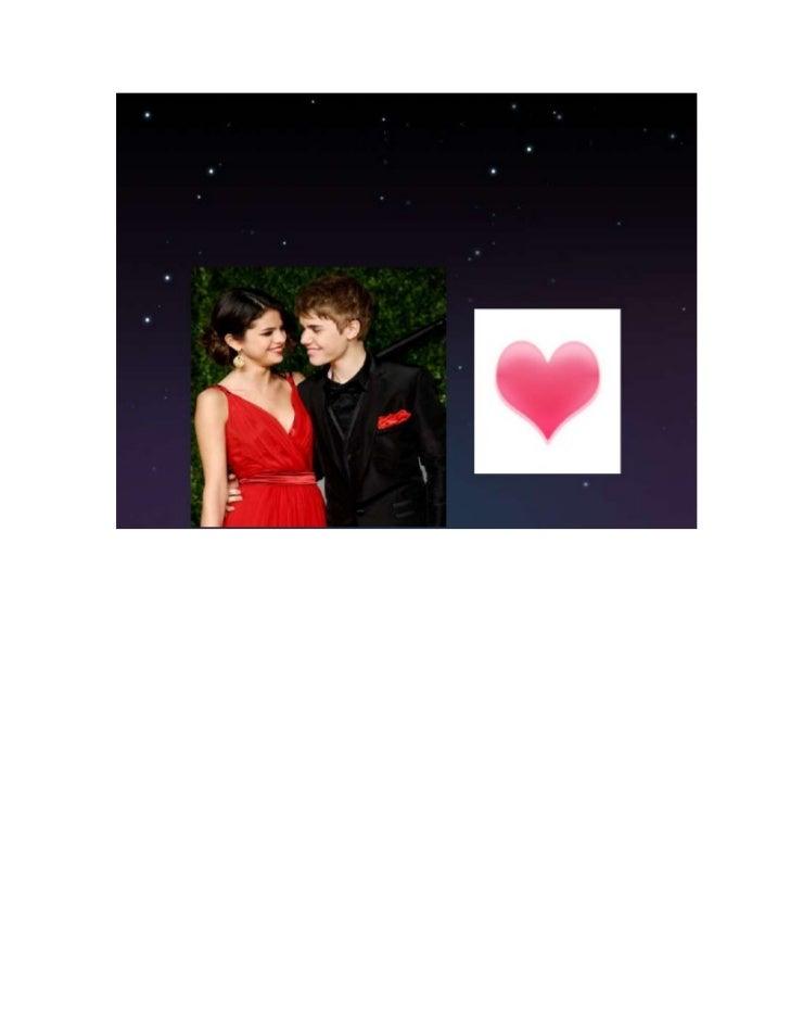 Justin and selena document Slide 2