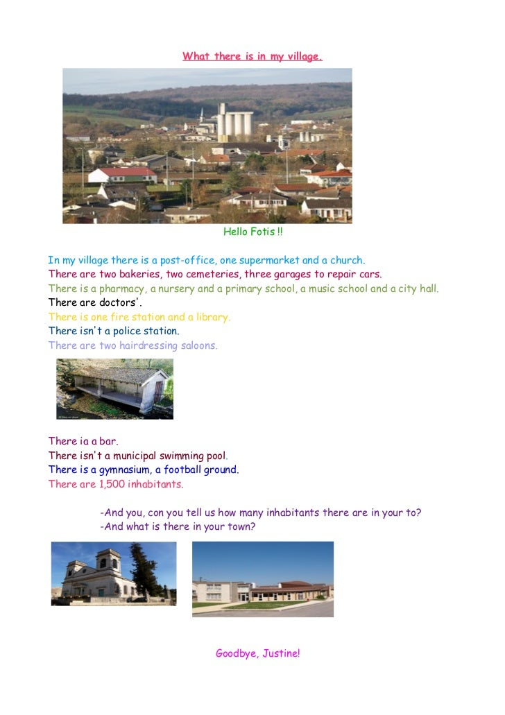 E-pal project: students' exchange of information about their towns