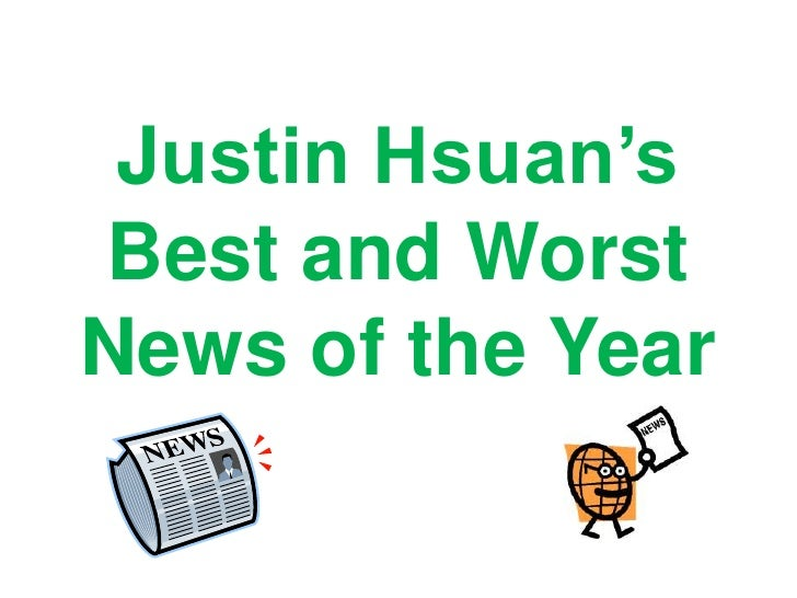 Justin Hsuan's Best and Worst News of the Year