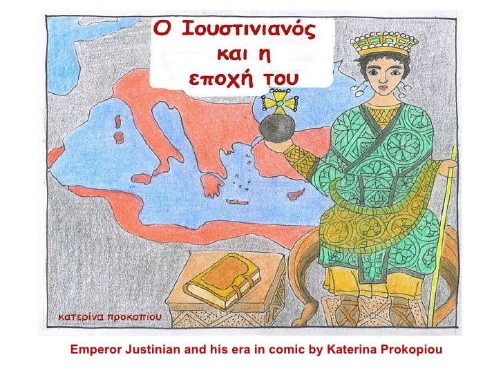 Emperor Justinian and his era in comic by Katerina Prokopiou